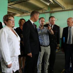 Visite de l'entreprise Fox Loisirs par Mr Andrej Babiš, entouré de la délégation franco-tchèque, sur le site de Bataville